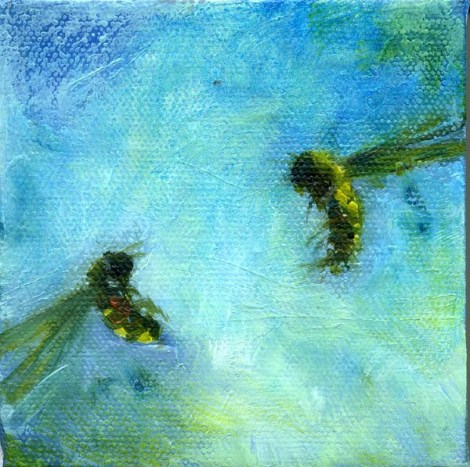 Circling Bees by gisellegautreau.blogspot.com