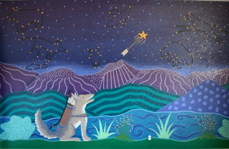 Coyote Created the Stars Mural by Kris Eitsen